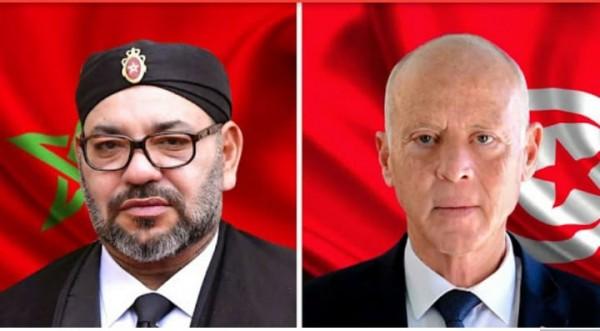جلالة الملك محمد السادس، اتصالا هاتفيا من قبل رئيس الجمهورية التونسية قيس سعيد