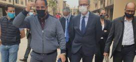 كريم قسي لحلو والي جهة مراكش آسفي يقوم بزيارة ميدانية لورش مشروع M-Avenue