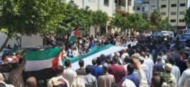 عشرات المصلين في وقفة تضامنية مع الشعب الفلسطيني بتطوان