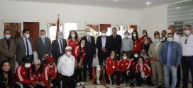 قسي لحلو يستقبل إناث الكوكب المراكشي الفائزات ببطولة المغرب لكرة السلة