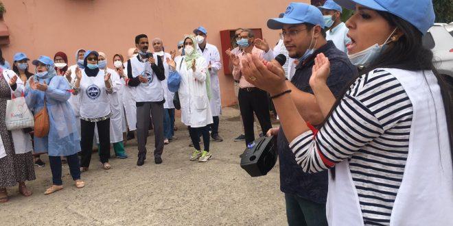 سوء تسيير وتعسف مدير مستشفى بمراكش يدفع نقابيين للإحتجاج